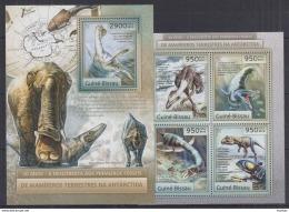 P40 Guinea-Bissau - MNH - Animals - Prehistorics - 2012
