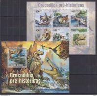 R40 Guinea-Bissau - MNH - Animals - Prehistorics - 2010