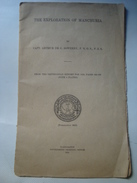 THE EXPLORATION OF MANCHURIA - CAPT. ARTHUR DE C. SOWERBY - SMITHSONIAN 1921. PHOTOS. CHINA. - Exploration/Travel