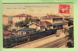 CHASSE - Vue Générale De La GARE Avec Superbe Plan Train En Gare - Colorisée Et Toilée - Ed. Julien Tabacs - 2 Scans - Non Classificati