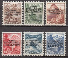 Zwitserland-Diens-Service  BIE/IBE 1948 Michel  23-28 X MH/VF,see 1 Scans [458  ]