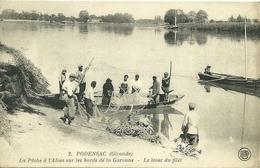 PODENSAC  - La Pêche à L' Alose Sur Les Bords De La Garonne - Le Lever Du Filet - France