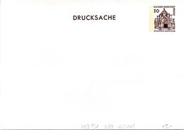 """Berlin Privat GZS-Umschlag PU 034 A2/001 WSt.10(Pf) Braun,""""DRUCKSACHE"""" Ungebraucht - Berlin (West)"""