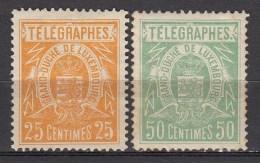 LUXEMBURG    TELEGRAPHES    1883    Michel    2D X,3D X   MH/VF    [812 ] - Telegraphenmarken