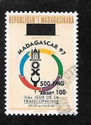 TIMBRE OBLITERE DE MADAGASCAR SURCHARGE EN 1999 N° MICHEL 2132