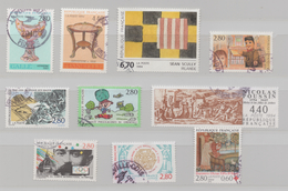 FRANCE 1994 10 TIMBRES ARTS SCULLY GUIGNOL POUSSIN FRANCS MACONS ETC... - France