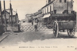 Chemins De Fer - Locomotive Gare Passage à Niveau Mourmelon - Gares - Avec Trains