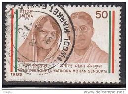 India Used 1985, Nellie & Jatindra Mohan Sengupta, (sample Image) - Oblitérés