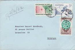 Canada Cover Franked W/a Skier Posted To Belgium 1962 (T17-13)
