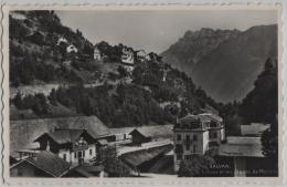 Salvan - La Gare Et Les Dents De Morcles - Photo: Perrochet No. 11221 - VS Wallis