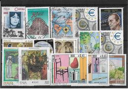 Francobolli Francobollo World Stamps Stamp Italia Number Numero 15 Pezzi In Lire Ed Euro - Lotti E Collezioni
