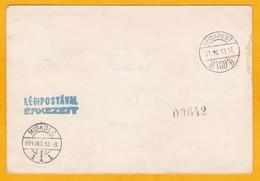 1951 - CP Commémorative Numérotée - Vol Budapest Miskolc Et Retour - Oblitération Spéciale - Cad Transit