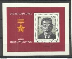 "DDR Bl.44  ""Dr. Richard Sorge"" Gestempelt Mi.-Preis 5,00"