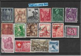 Francobolli Francobollo World Stamps Stamp Svizzera Number Numero 16 Pezzi - Sammlungen