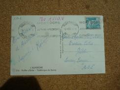 Carte Postale Affranchie Type Gandon Oblitération Mécanique Les Bains Du Mont-Dore Pour Gao Soudan A.O.F 1950 - Postmark Collection (Covers)