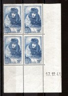 Coin Daté 1941 Du N° 461 - Neuf ** - Guynemer - 1940-1949