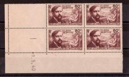 Coin Daté 1940 Du N° 462 - Neuf ** - Chômeurs Intellectuels - Debussy
