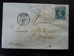 Lot Du 23.05.17_ LAC De Rennes Sur N°22 , Verso,a Voir!!,variété. - Postmark Collection (Covers)