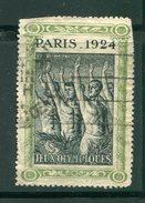 FRANCE- Vignette Des J.O De Paris 1924- Oblitérée (coupée En Haut à Gauche Et Coté Droit En Haut)