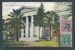 School Of Medicine, Santiago,Chile.Excellent Postcard With Stamps Chile.2scn.Architecture.Architektur.Medical School.