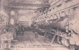 France 90, Belfort Industriel, Atelier De Montage Des Locomotives, Chemin De Fer (108) Pli D'angle - Belfort - Ciudad