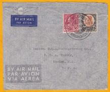 1938 - Enveloppe Par Avion De Bangkok, Siam, Thailande Vers Camden, USA - Affrt 10 + 25 Stg Roi Prajadhipok - Siam