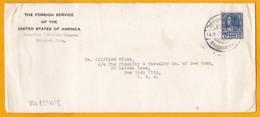 Juin 1939 - Enveloppe Par Avion De Bangkok,Siam, Thailande Vers New York, USA, VIA EUROPE - Affrt 15 Stg Roi Prajadhipok - Siam