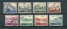 1941 Switzerland Complete Set Airmail Definitives Used/gebruikt/oblitere