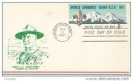 USA 1967 12TH WORLD JAMBOREE POSTCARD FDC