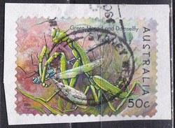 Australia, 2003 - 50c Green Mantid And Damselfly - Nr.2195 Usato°