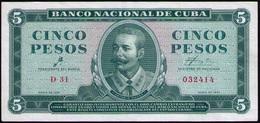 CUBA 5 PESOS 1961 SC-UNC - Cuba