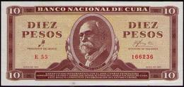 CUBA 10 PESOS 1961 SC-UNC - Cuba