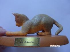 """Chat En Résine """"le Chasseur"""" - Katten"""