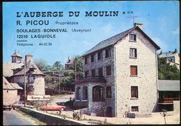 L' AUBERGE DU MOULIN - Soulages- Bonneval - LAGUIOLE  (CARTE PUBLICITAIRE) - Laguiole