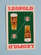 LEOPOLD / Klaveren 10 ( Zie Foto´s Voor En Achter ) Bier / Beer !! - Cartes à Jouer Classiques