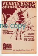 Le Petit Train Départemental, Robert Burnier, Claude Pingault, Ray Ventura, Tristan Richepin, Parttion - Chant Soliste