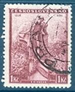 Tschechoslowakei 1936 Mi. 346 Gest. Karel H. Macha Dichter Denkmal TGST Prag - Cecoslovacchia