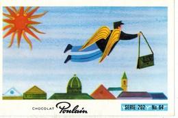 Image Chocolat Poulain Série N° 202 : Y A DE LA JOIE Charles TRENET => Image N° 64 - Musique Artiste Chanteur Narbonne - Poulain