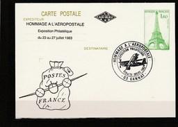Allier - Hommage à L'Aéropostale - Gannat - 23 Et 24 Juillet 1983 Sur Entier Postal - Commemorative Postmarks