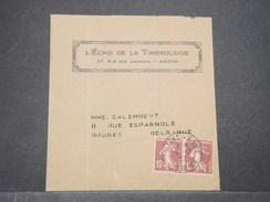 FRANCE - Bande Journal D 'Amiens Pour La Belgique En 1926 , Affranchissement Semeuses  - L 7849 - Postmark Collection (Covers)