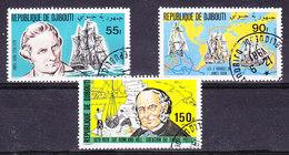 Djibouti 1981 James Cook / Rowland Hill 3v Used (35780) - Djibouti (1977-...)