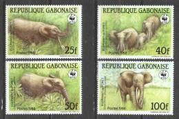 Gabon 1988 Mi 1009-1012 MNH WWF ELEPHANT - Unused Stamps