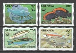 Grenada 1984 Mi 1299-1302 MNH WWF FISHES - Unused Stamps