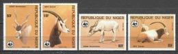 Niger 1985 Mi 941-944 MNH WWF ANTILOPES - W.W.F.