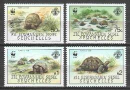 Seychelles 1985 Mi 104-107 MNH WWF TURTLES - W.W.F.