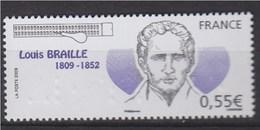 Louis Braille Inventeur Du Système D'écriture En Points Saillants N°4324 Neuf Gommé Portrait, Faciale En Braille - France