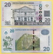 Suriname 20 Dollars P-164 2012 UNC - Surinam