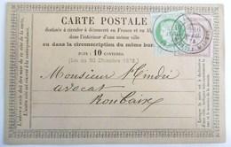 (106) Carte Postale Précurseur Cérès 53+58 De Paris Pour Roubaix - Entiers Postaux