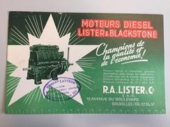 17AC -  Buvard Publicitaire Moteur Marin Et Industriels Lister & Blackstone Revendeur Ecaussines - Blotters