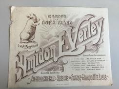 17AC -  Buvard Amidon E Verley Amidonnerie Et Rizerie De France Ours Blanc - Blotters